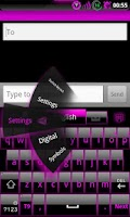 Screenshot of GOKeyboard Theme Glassy Pink