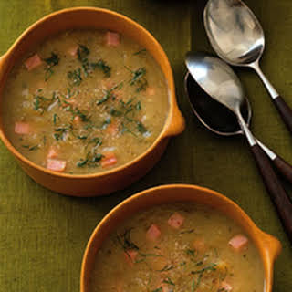 Zucchini, Potato and Ham Soup.