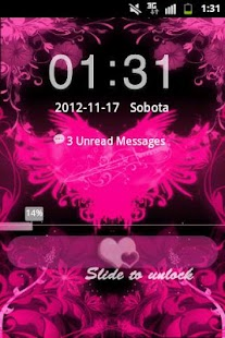 GO Locker Theme Pink Hearts - screenshot thumbnail