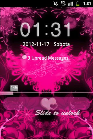 GO Locker Theme Pink Hearts - screenshot