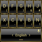 Theme TouchPal Frame Gold