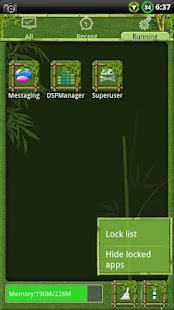 Bamboo GO Launcher EX Theme - screenshot thumbnail