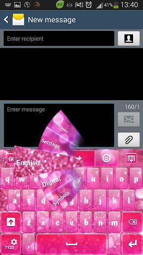 ピンクキーボードのHD