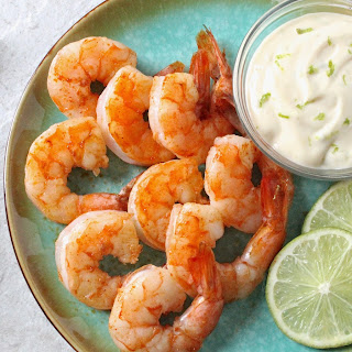 Chipotle Chili Pepper Shrimp with a Limy Dipping Sauce