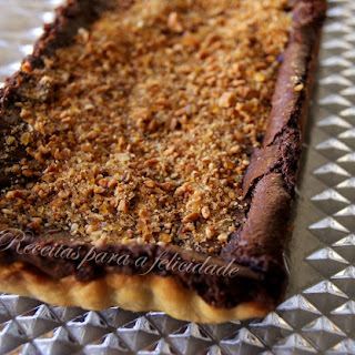 Chocolate Pie with Hazelnuts.