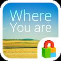 WhereYouAre Dodol Locker Theme icon