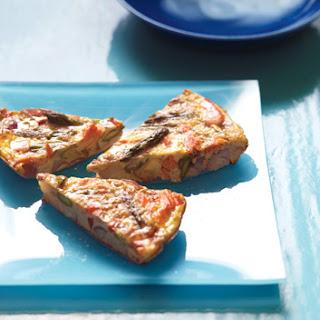 Salmon and Asparagus Frittata.