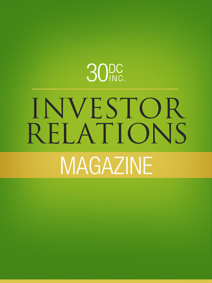 30DC Investor Relations Mag- screenshot