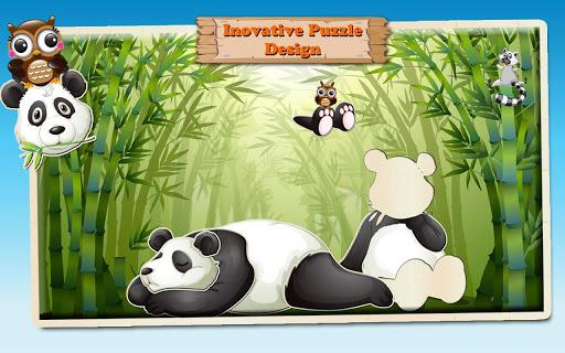 动物拼图 儿童和小孩