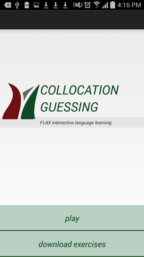FLAX Collocation Guessing- screenshot