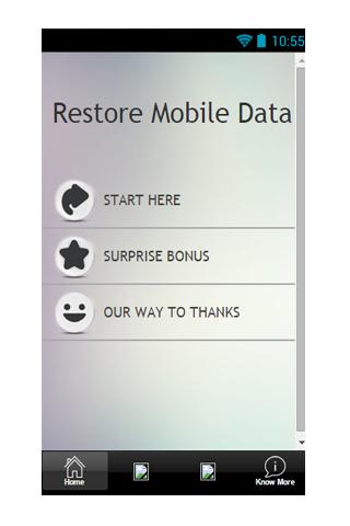 Restore Mobile Data Guide