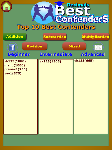 【免費教育App】Best Contenders: Decimals-APP點子