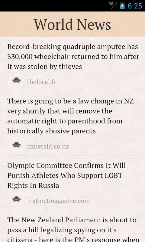 World News - screenshot