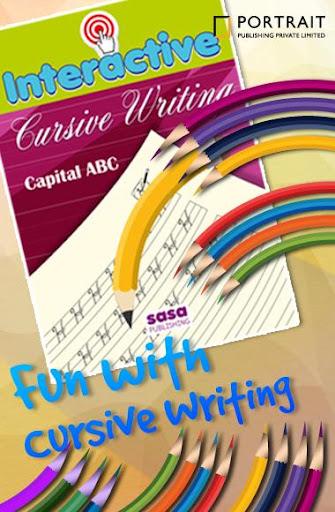 ABCD Kids Cursive Writing Free