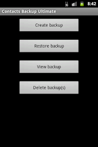 Contacts Backup Ultimate Full screenshot 0