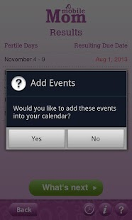 Ovulation Calendar & Fertility - screenshot thumbnail