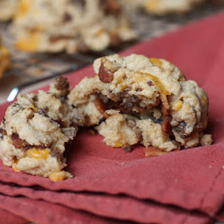 100% Whole Wheat Bacon Cheddar Sausage Biscuits