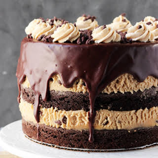 Peanut Butter Cookie Dough Brownie Layer Cake.