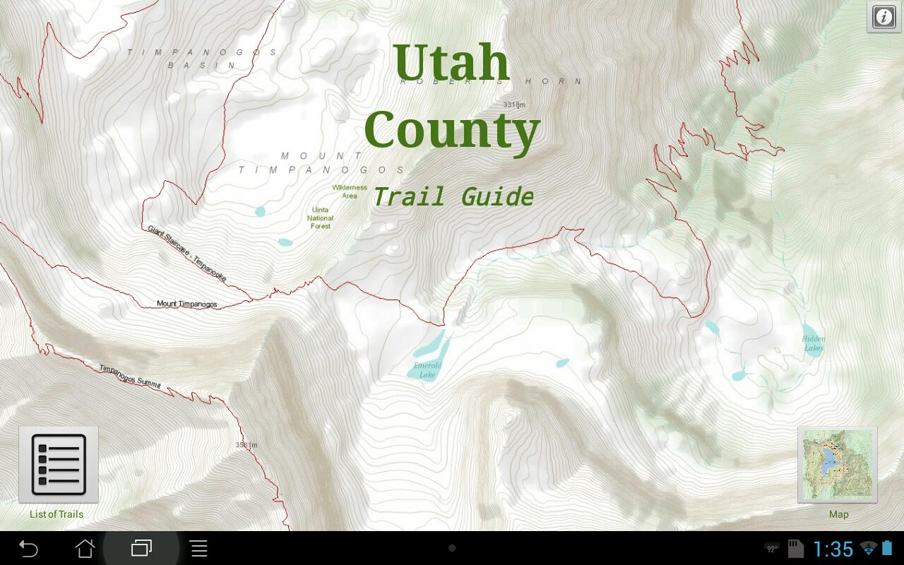 Utah County Trail Guide- screenshot