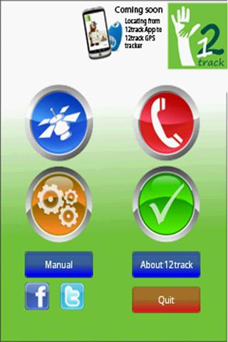 12track GPS Tracking App - screenshot