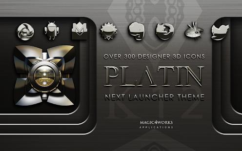 Next Launcher Theme Platin