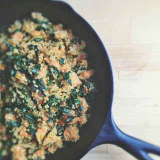 Roasted Sweet Potato, Kale + Sage Quinoa Skillet