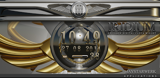 Digi Clock Widget Iridium APK