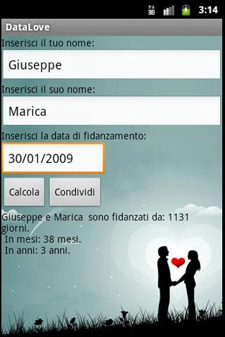 DataLove - screenshot
