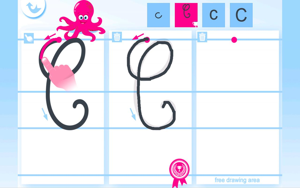 Write the Alphabet for Kids - screenshot