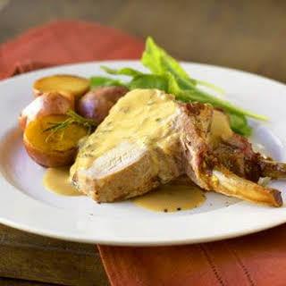 Roast Pork Loin with Mustard Marinade.