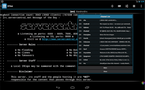 IRC for Android ™- screenshot thumbnail