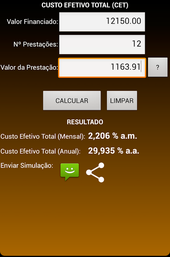Juros Fácil TOTAL - screenshot