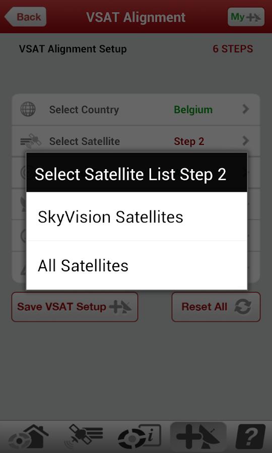 VSAT PRO Satellite Dish Finder - screenshot
