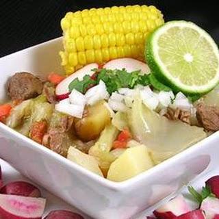 Caldo de Res (Mexican Beef Soup).