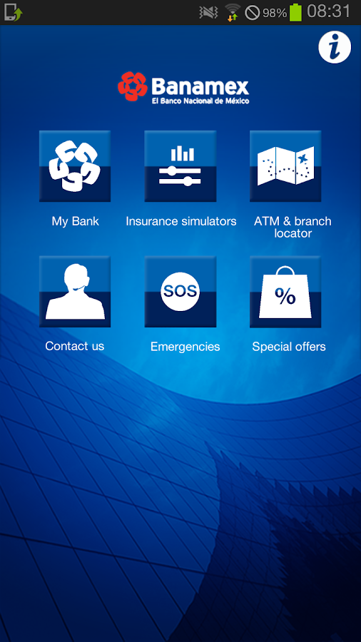 Banamex Mobile - screenshot