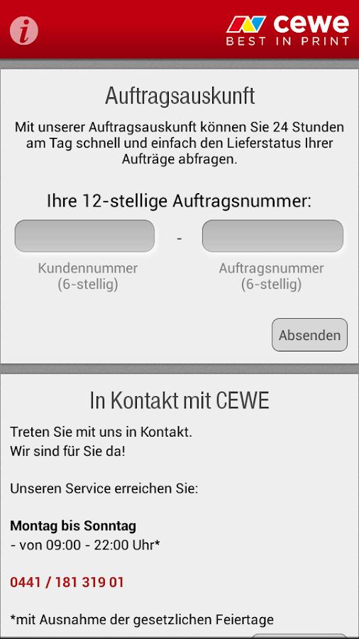 cewe service - screenshot