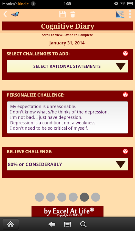Depression CBT Self-Help Guide - screenshot