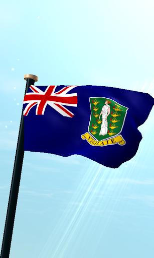 英属维尔京群岛旗3D动态壁纸