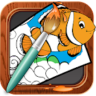 Coloring Book Sea Animals icon