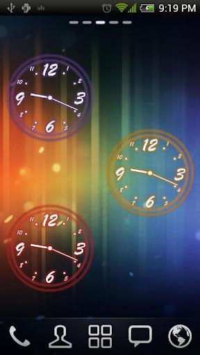 Analog Clock Neon Transparent