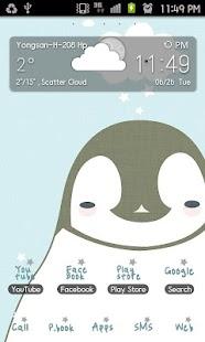Pepe-blue GO Launcher theme - screenshot thumbnail