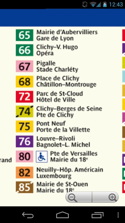 Paris Bus Map Free- screenshot