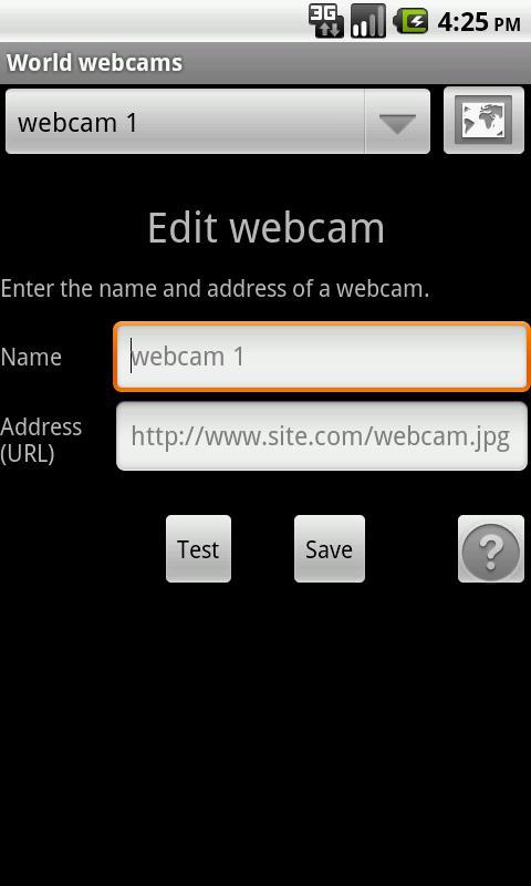 World Webcams- screenshot