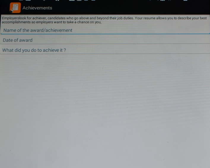 resume maker   android apps on google playresume maker  screenshot