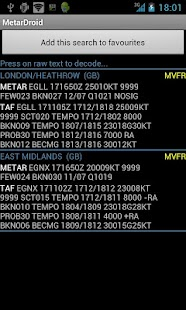 Metar Droid- screenshot thumbnail