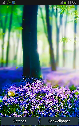 Forest Lavender HD LWP App