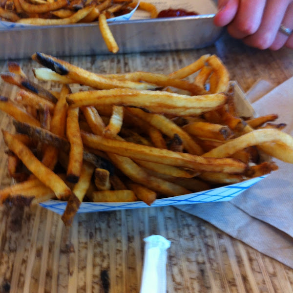 Fries cooked in olive oil.