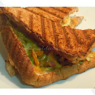 Cheese and Vegetable Sandwich.
