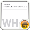 SMART MOBILE INTERFACE -white icon