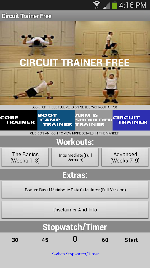 Full Body Circuit Trainer Free - screenshot